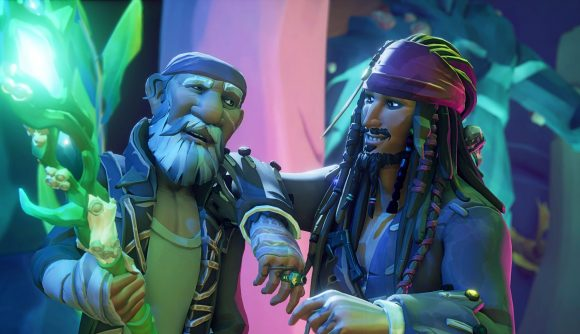 Jack Sparrow and the new trident in Sea of Thieves Pirate's Life