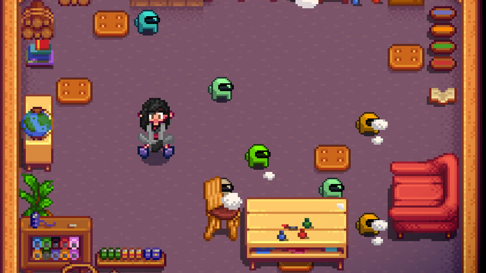 This Stardew Valley mod swaps out Junimos for Among Us crewmates