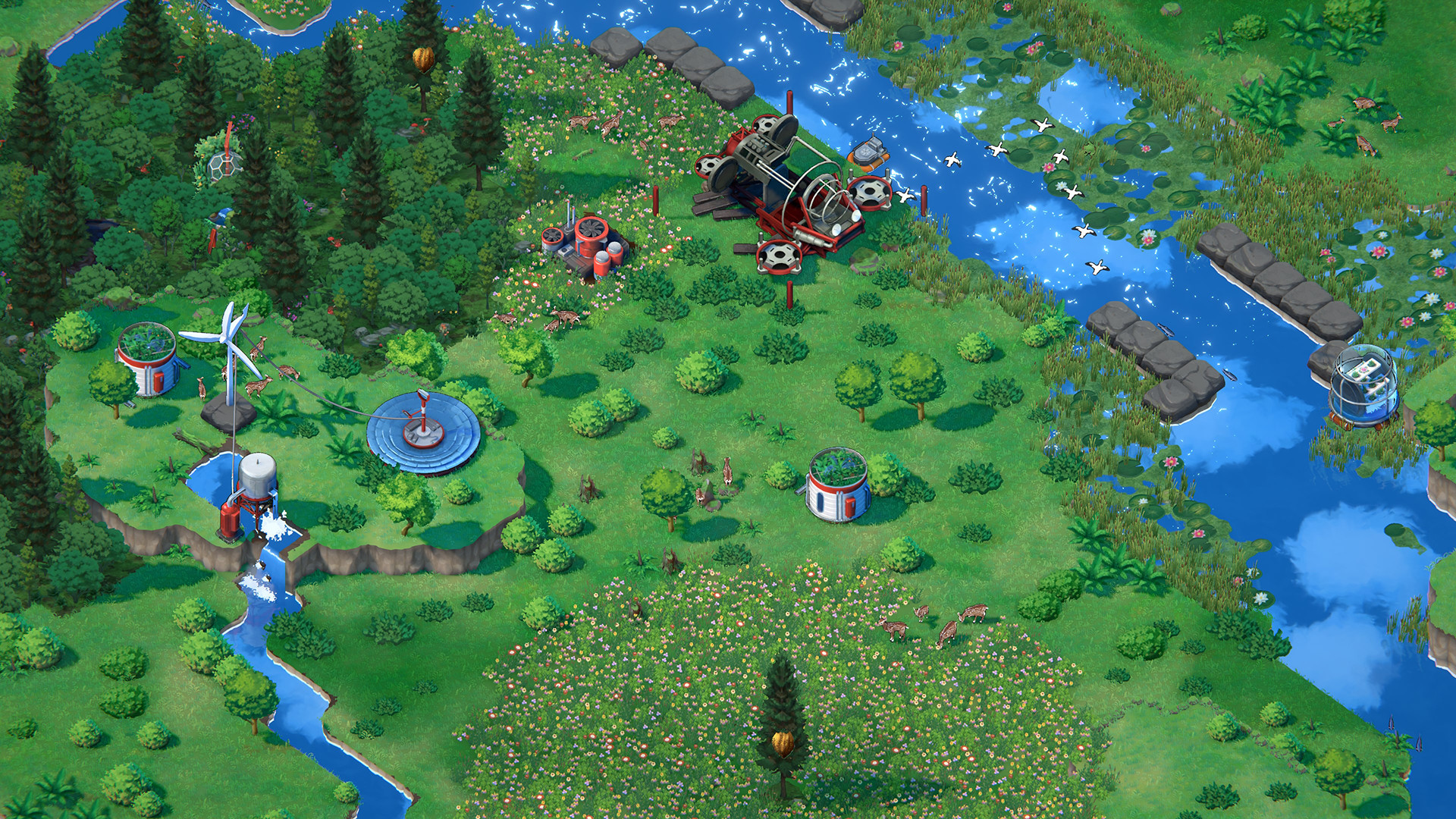 """Terra Nil is a """"reverse city builder"""" where you restore an ecosystem"""