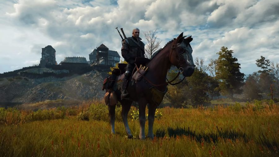 Geralt on Roach in The Witcher 3