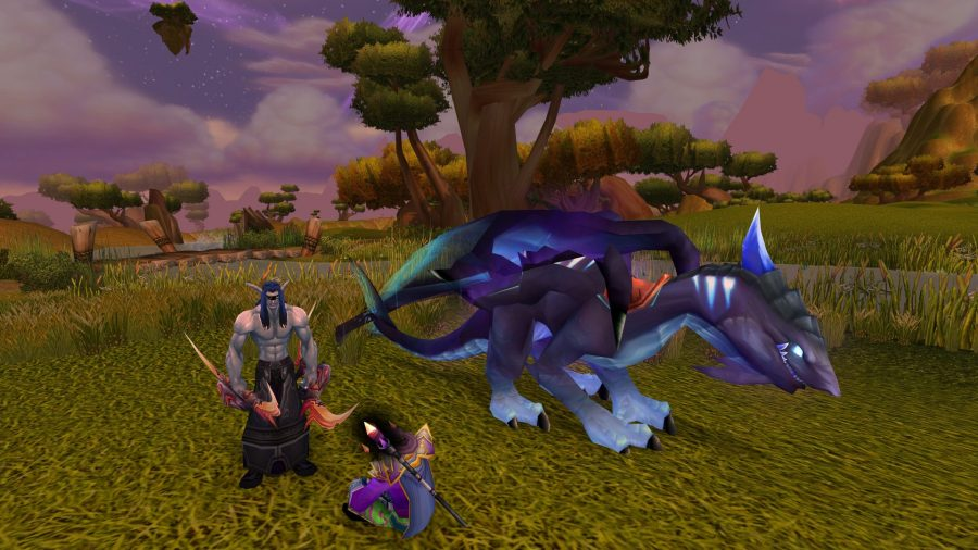 Altruis with a Netherdrake in WoW Burning Crusade