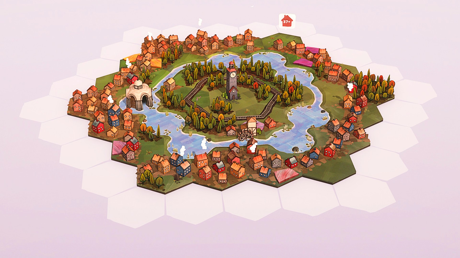 Chill city-building game Dorfromantik's 1.0 gets delayed, but here's a packed roadmap