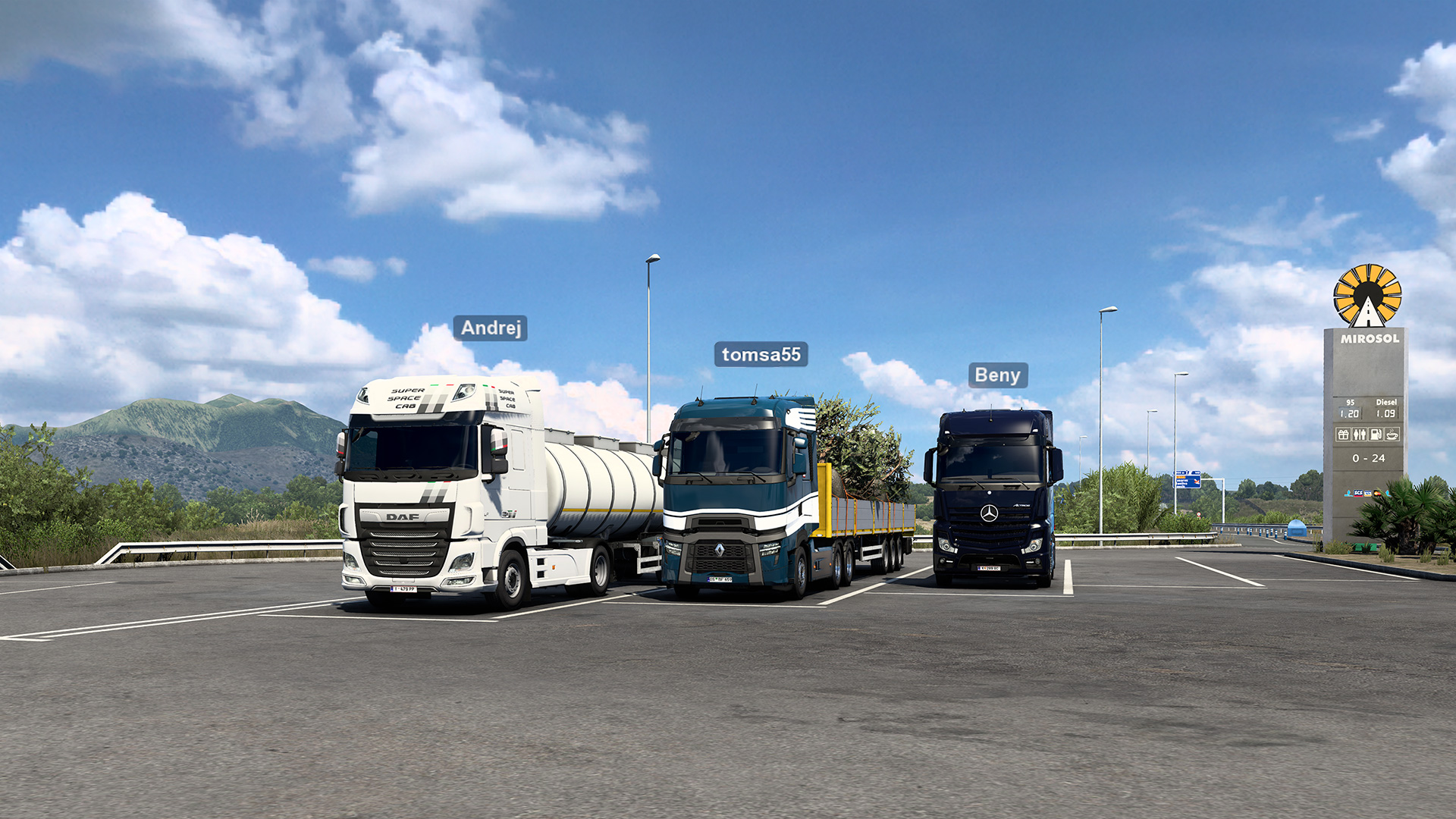 Euro Truck Simulator 2's official multiplayer is live in the free 1.41 update