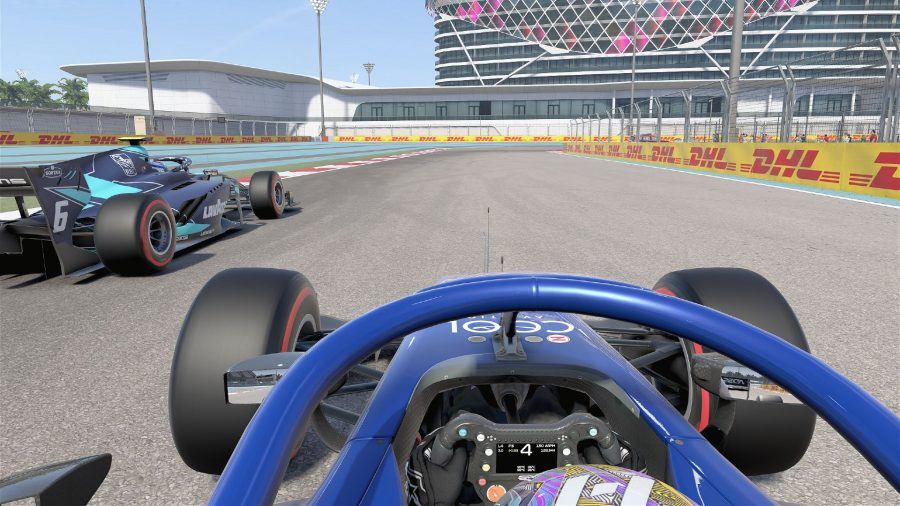 View from the cockpit of our F1 2021 test