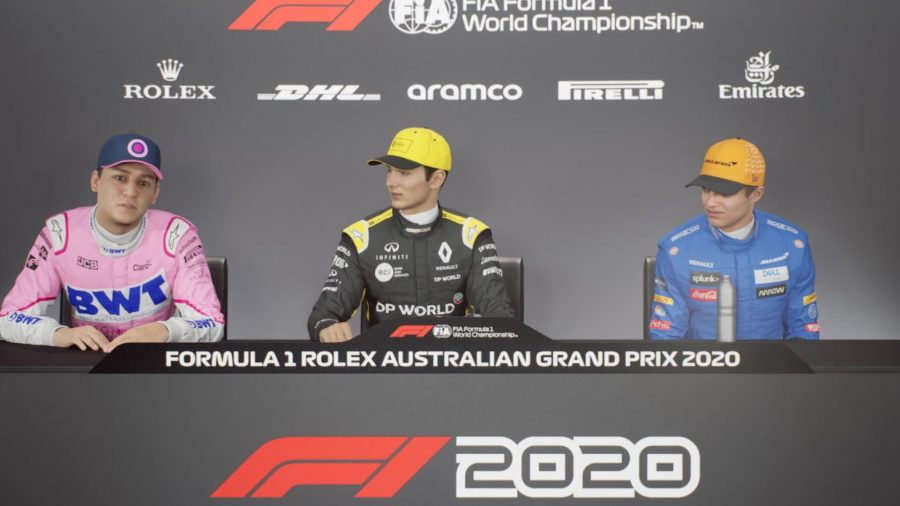 Press conference at Braking Point, F1 2021 story mode
