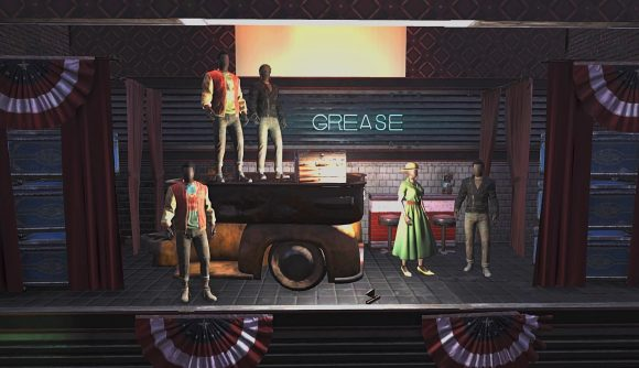 Fallout 76 players host a production of Grease in their theatre build