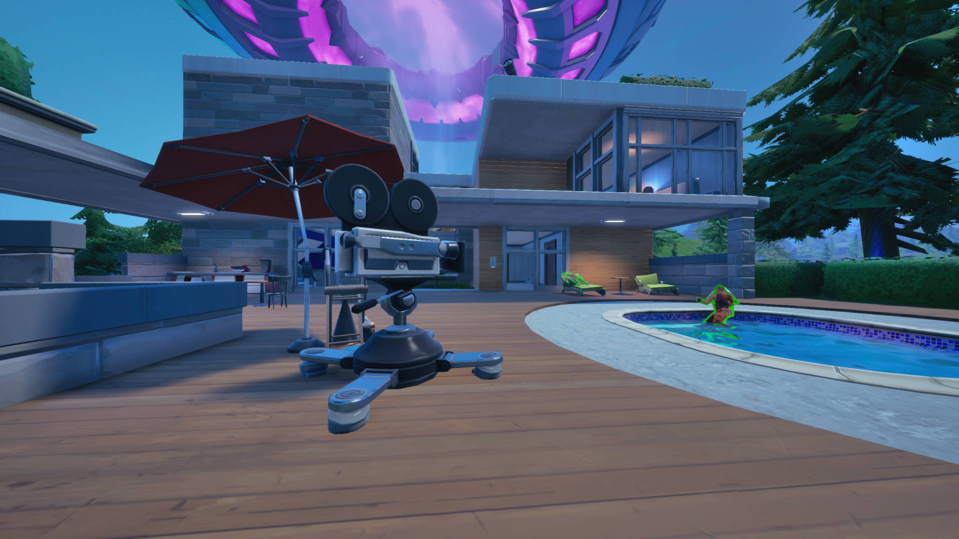 Where to emote in front of a camera in Fortnite