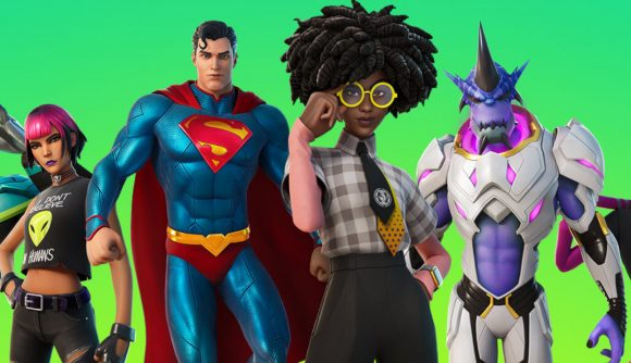 Some of the skins in the current Fortnite battle pass - chances are, one of them has done a Laugh It Up in your direction