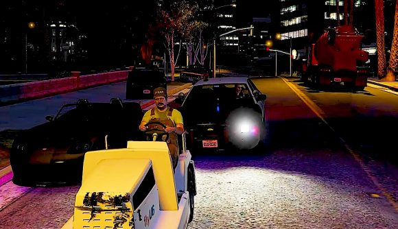 A GTA RP player showing off his Wario character on No Pixel's sever