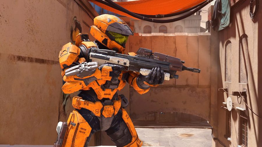 Customised Spartan armour in Halo Infinite