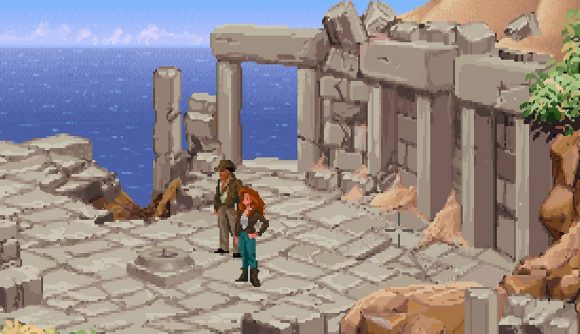 Indiana Jones and the Fate of Atlantis screen showing the hero in the new game available with Prime Gaming in August
