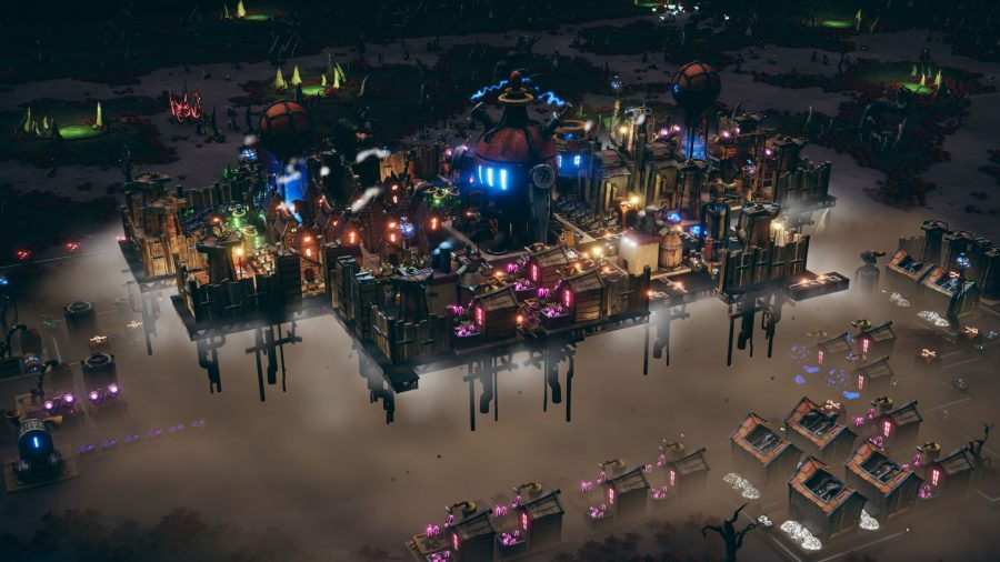 Flying city in Dream Engines: Nomad Cities