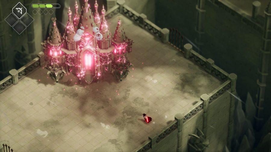 Battling a castle in Death's Door