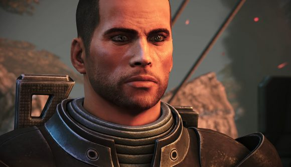 Shepard stands ready to make Paragon choices in Mass Effect: Legendary Edition, same as always