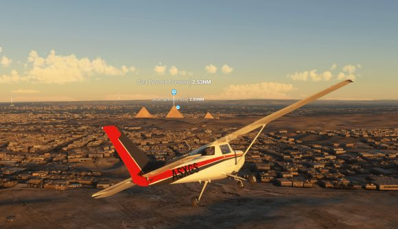 A point of interest marker introduced in the latest Microsoft Flight Simulator PC update