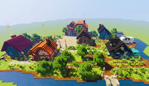 Stardew Valley's Town Square recreated in Minecraft