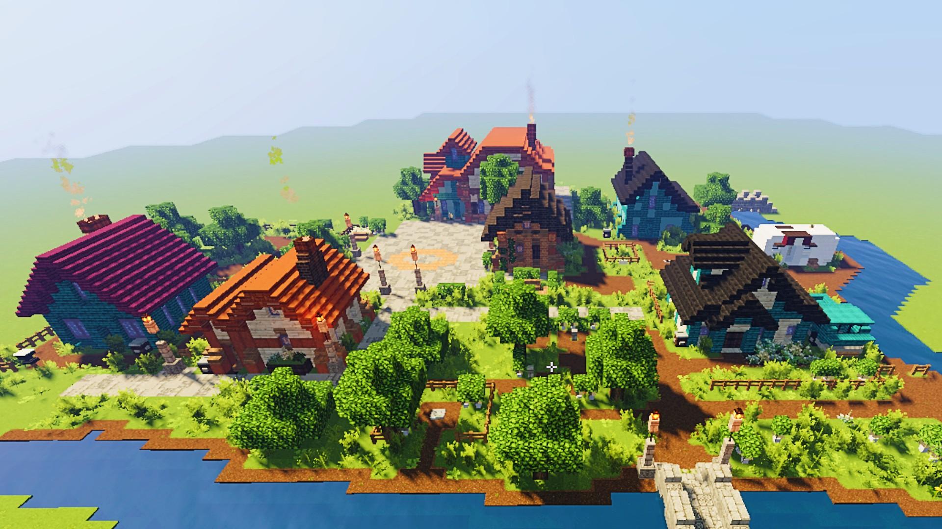 Minecraft player recreates Stardew Valley's town square in exquisite detail