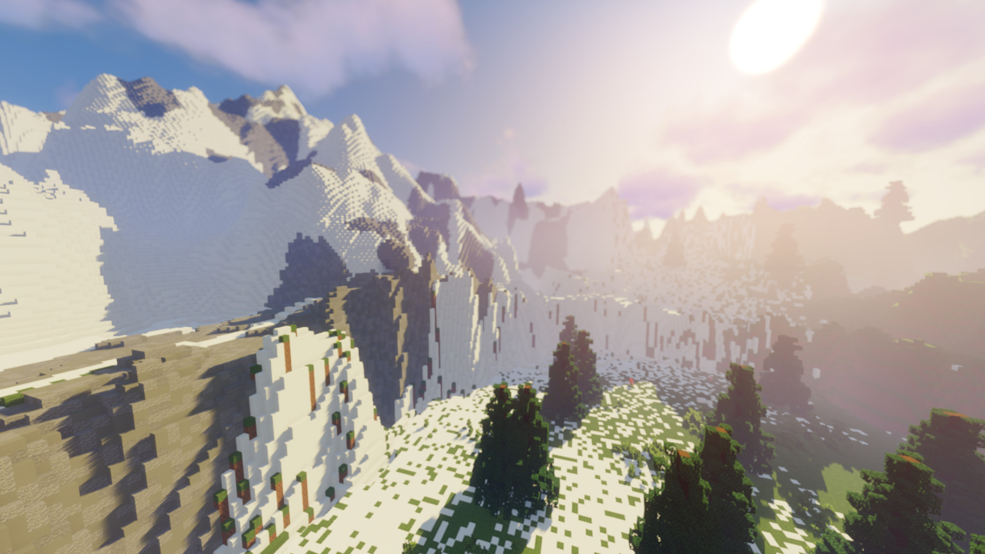 A Minecraft player is building the entire Zelda: Breath of the Wild map