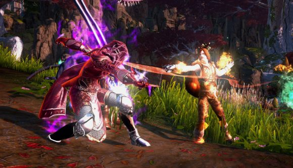 A Neverwinter Bard faces off against a baddie in the new module Jewel of the North