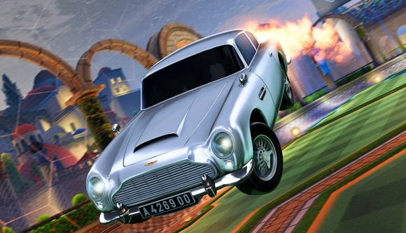 James Bond's Aston Martin in Rocket League