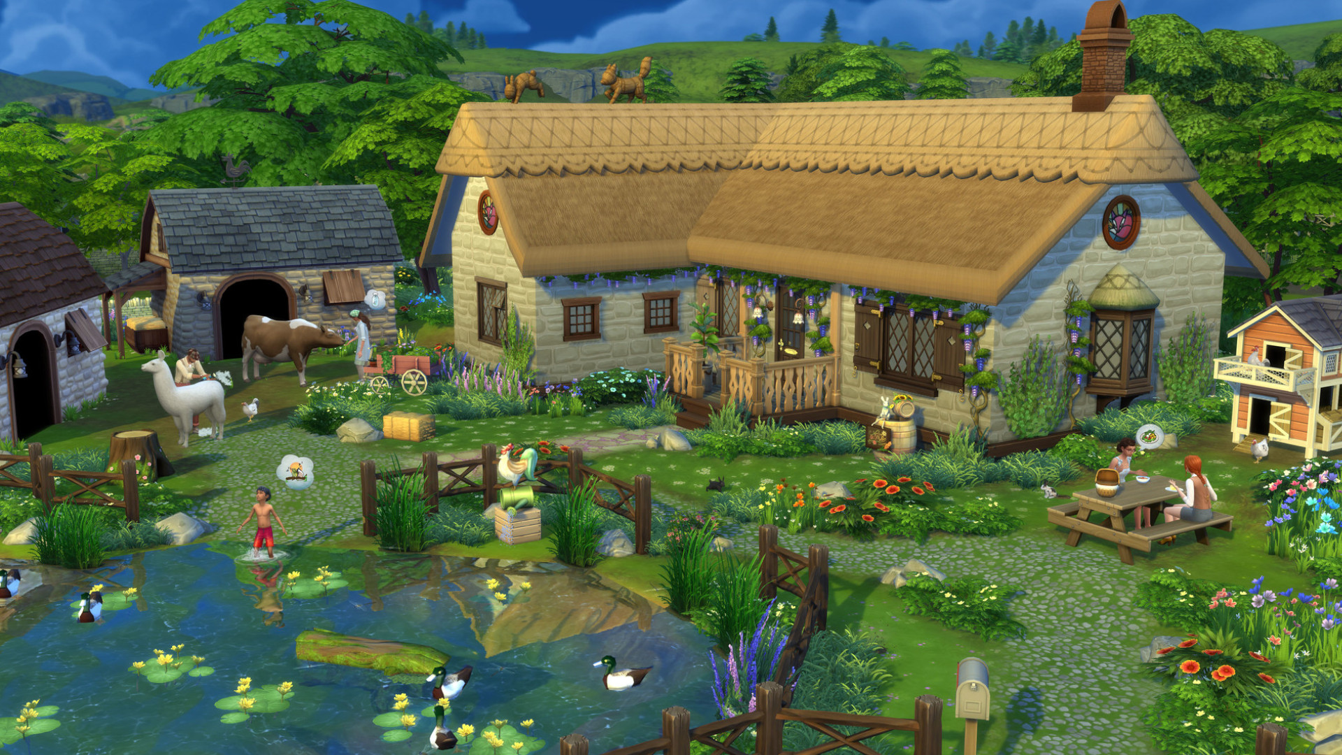 The Sims 4 finally has a pond tool (and alligators)