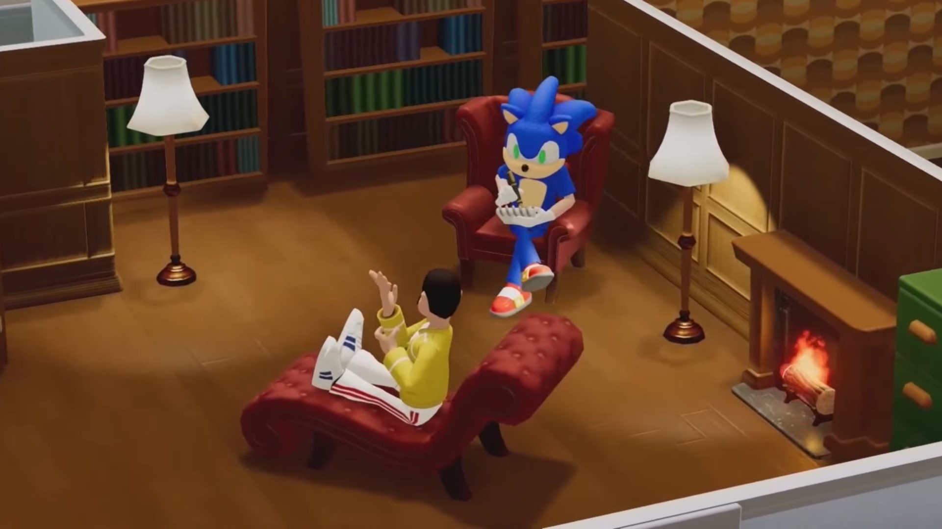 Sonic the Hedgehog is Freddie Mercury's therapist in Two Point Hospital now