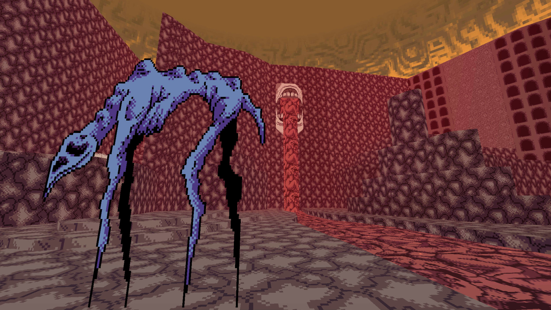 Picture Metroid Prime in the Doom engine, but a nightmare – that's Vomitoreum