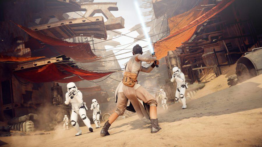 Rey dans Star Wars Battlefront 2