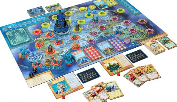 World of Warcraft's Pandemic board game spin-off all set out