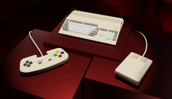 The A500 Mini is a reimagined Amiga 500 that comes with a controller