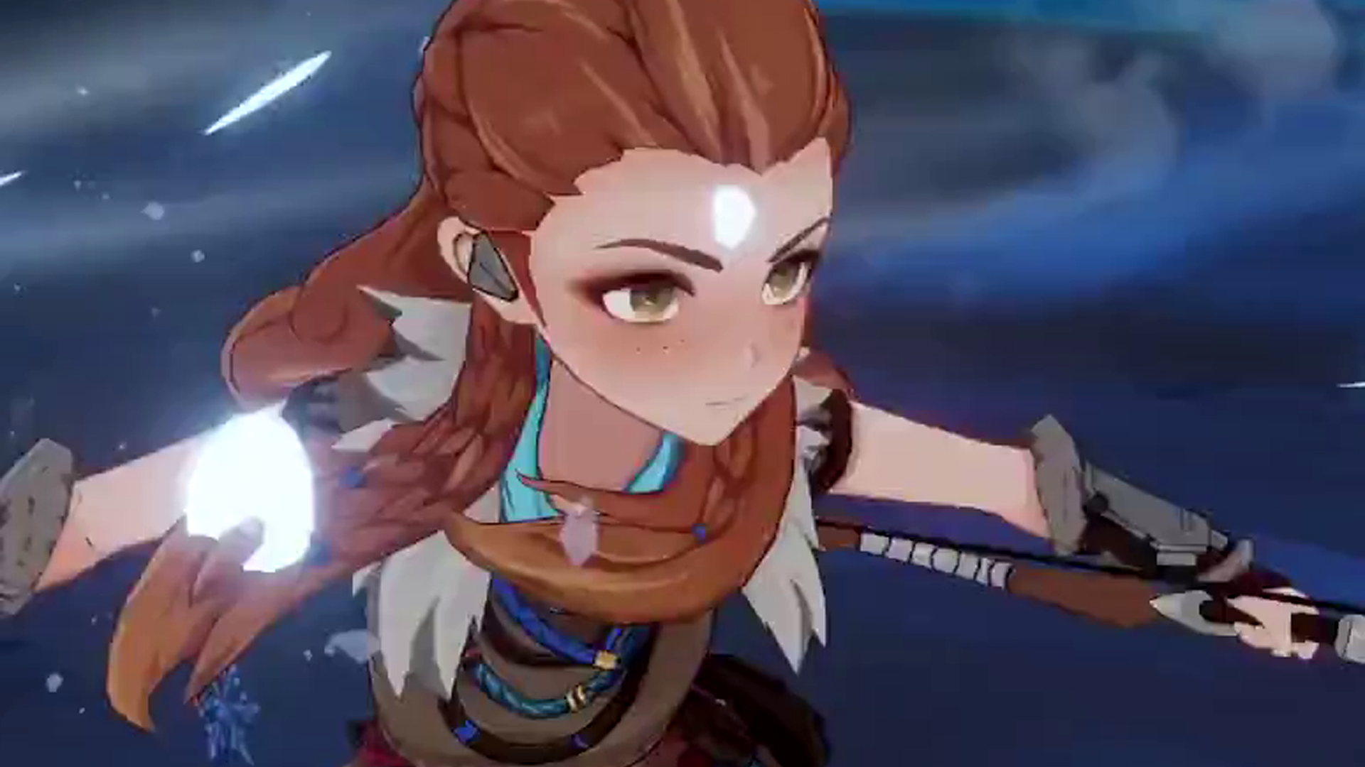 Here's the first gameplay of Horizon's Aloy in Genshin Impact