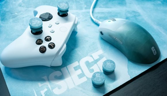 SteelSeries' gaming mouse and mouse pad Black Ice Editions are joined by a pair of precision thumbsticks for controllers