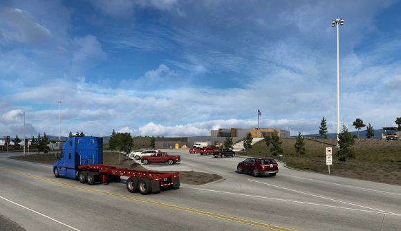 The Southeast Wyoming Welcome Center, as it appears in American Truck Simulator