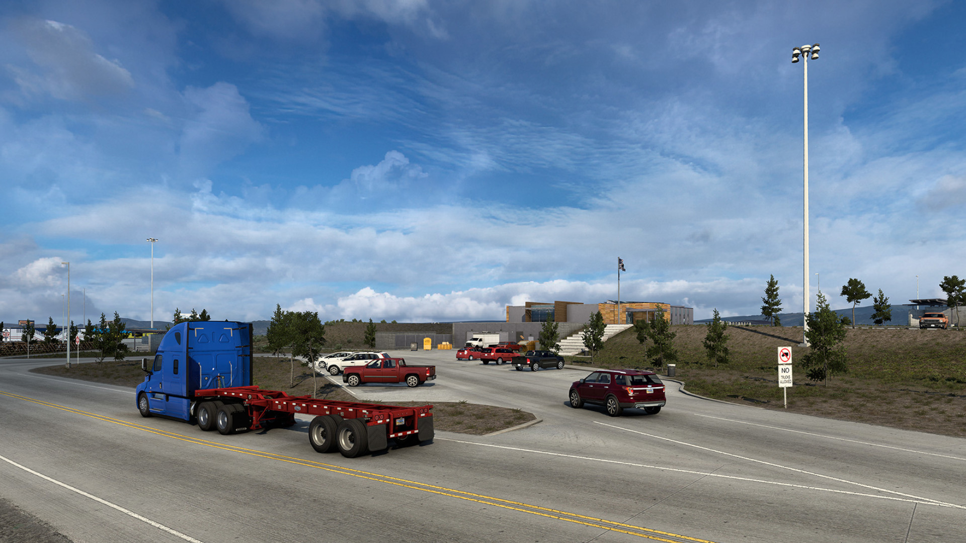 Here's what Wyoming's  million rest stop looks like in American Truck Simulator