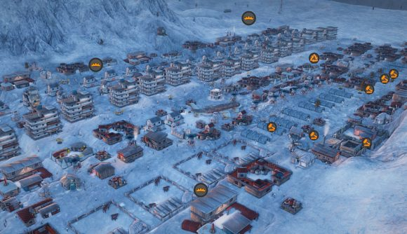 One of the Fallout-style towns from city builder Atomic Society