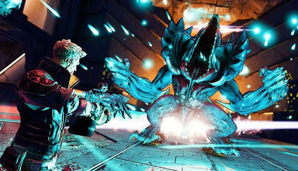 One of Borderlands 3's lead bounty hunters fighting an enemy