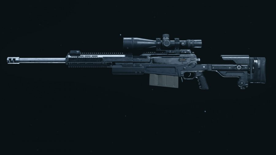 The AX50 sniper rifle in Call of Duty Warzone's preview menu