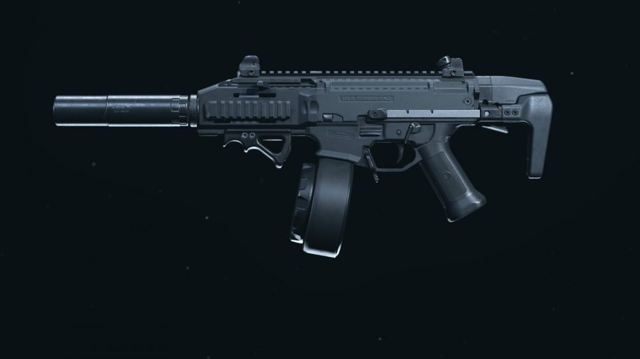 The CX9 with five attachments displayed in Call of Duty Warzone's weapons preview menu