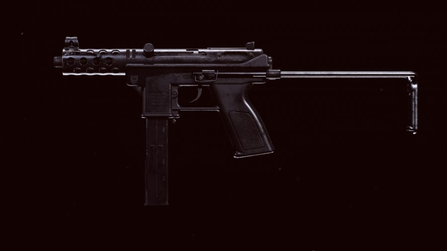 The new Tec-9 SMG in Call of Duty Warzone's preview menu