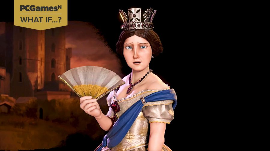 Queen Victoria of England looking disgusted by the concept of same team co-op in a strategy game like Civ 6
