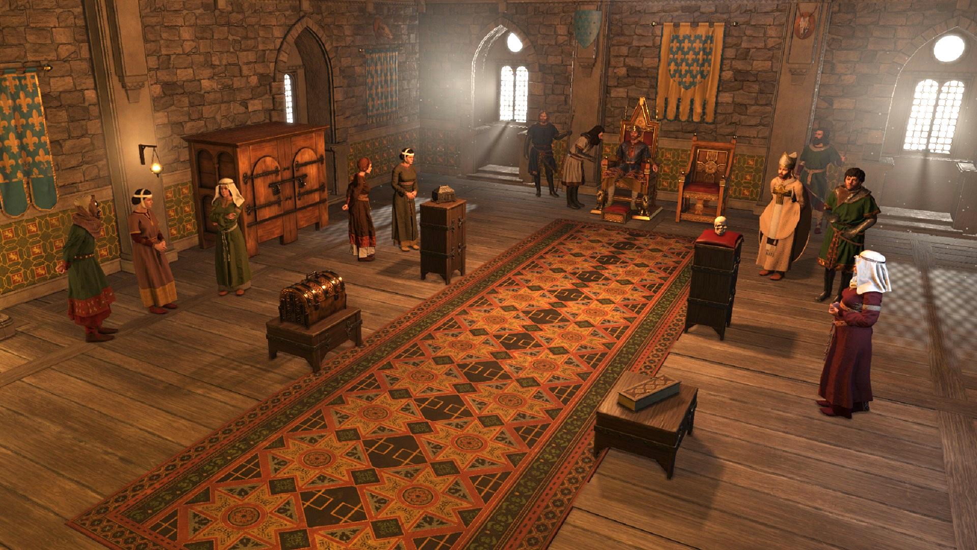 Crusader Kings 3's Royal Court expansion will take longer than originally planned