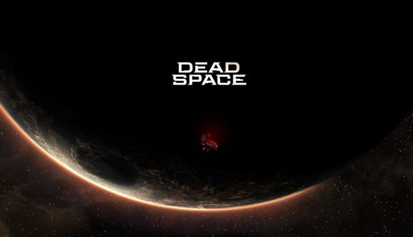 A derelict spaceship orbits a shadowy planet in a teaser image for the new Dead Space