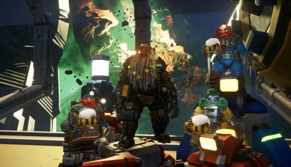 The dwarves of Deep Rock Galactic stand together, just like the selection of studios now acquired by the Embracer Group