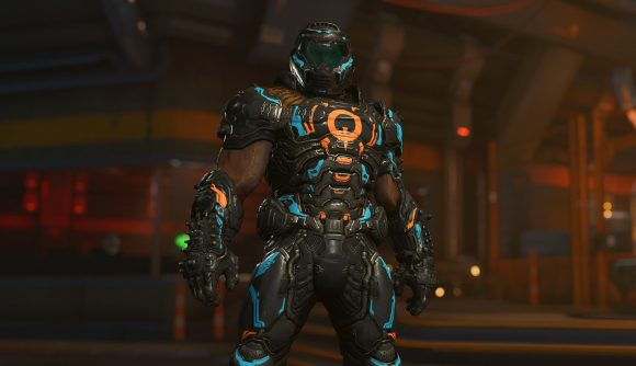 The Slayer sports some gear appropriate for QuakeCon, which brought us info on Doom Eternal 6.66