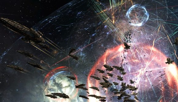 A massive battle in Eve Online.