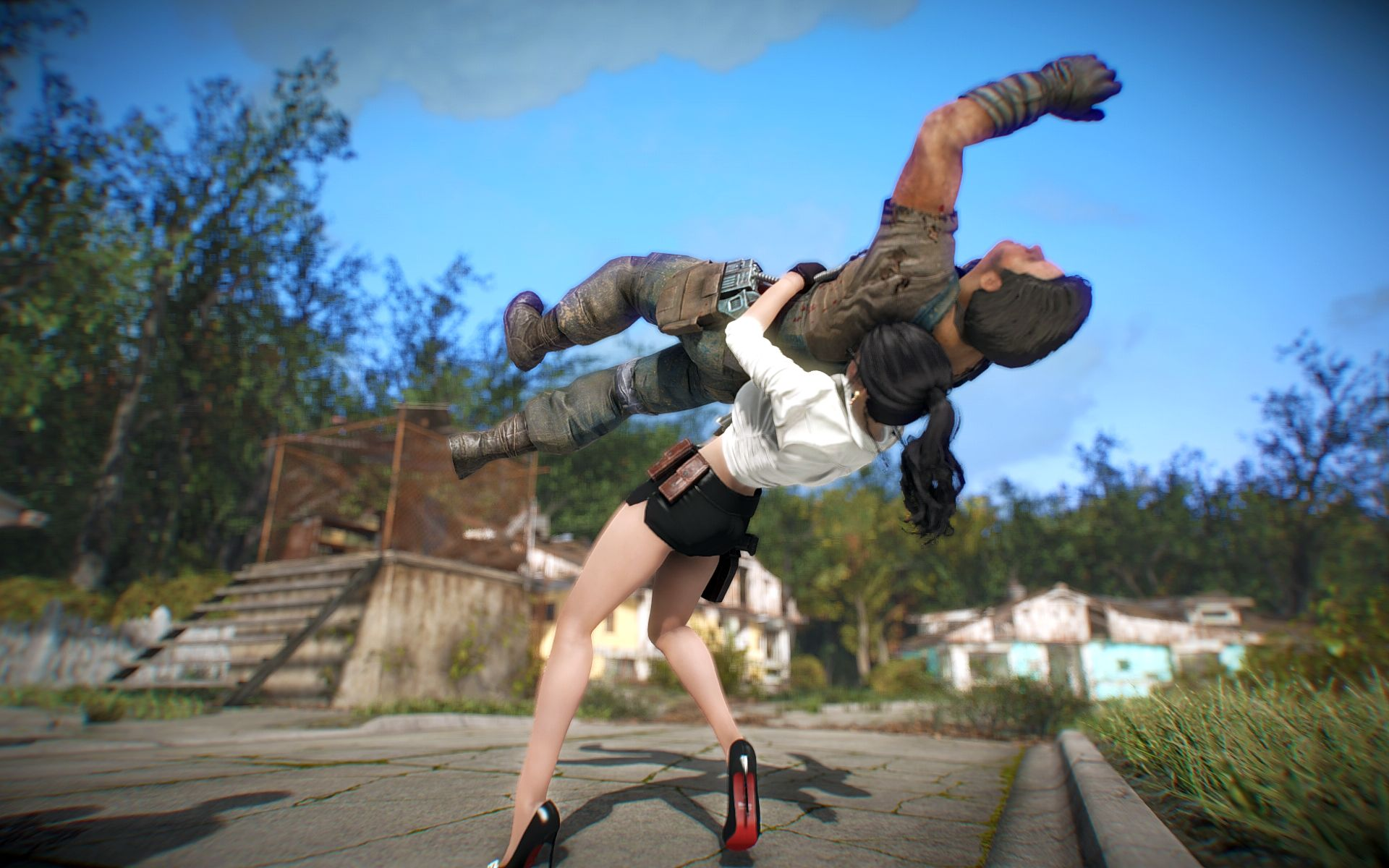 You can suplex dudes in Fallout 4 now
