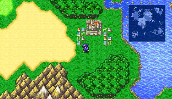 Final Fantasy 4's hero Cecil showing off the game's pixel remaster