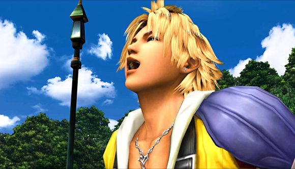 Final Fantasy X's Tidus laughing