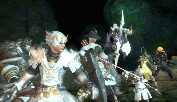 This group of Final Fantasy XIV heroes is probably waiting for server maintenance to conclude