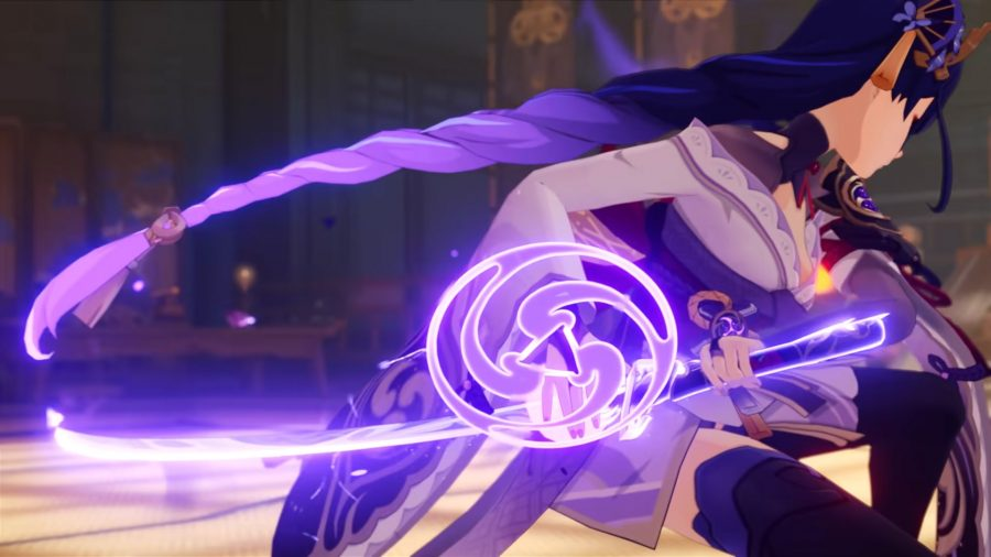 Baal attacking an enemy using her elemental skill